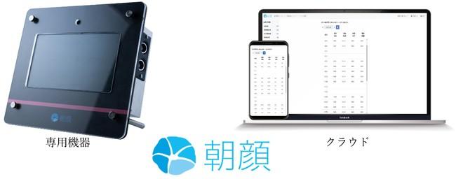 タイムレコーダーをデジタル化する顔認証勤怠サービス「朝顔」発売