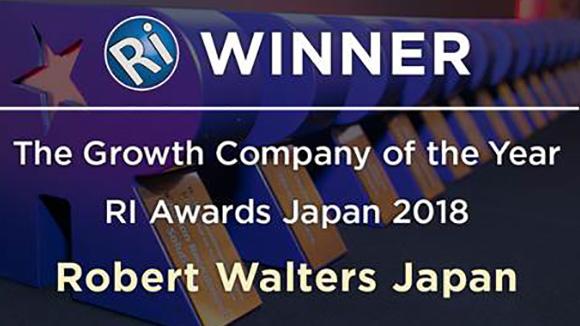 ロバート・ウォルターズ・ジャパン、人材業界のアワードで3つの賞を獲得