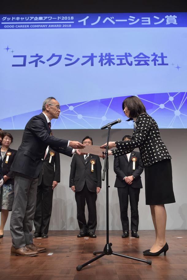 コネクシオ、「グッドキャリア企業アワード2018」の「イノベーション賞」を受賞
