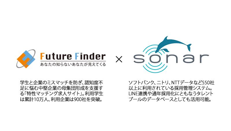 「SONAR」、特性マッチング求人サイト「Future Finder」とAPI連携を開始