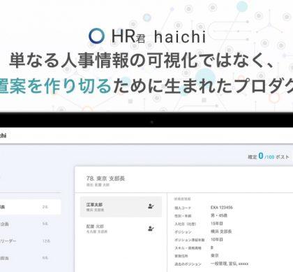 戦略的な人員配置計画を、AIが立案。エクサウィザーズ、「HR君haichi」提供開始